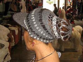 Design hat peaked cap,made of  pure Alpacawool - $27.00