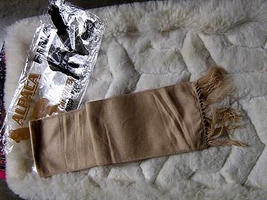 Light brown Alpacawool lighter scarf,neck scarf,unisex  - $19.00
