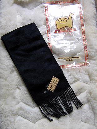 Black alpaca wool lighter scarf,neck scarf, unisex