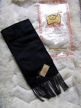 Black alpaca wool lighter scarf,neck scarf, unisex  - $19.00