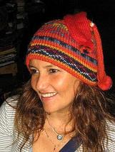 Red woolen hat, made of Alpacawool,cap  - $33.00