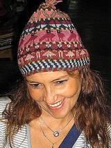 Woolen hat, made of Alpaca wool,cap, hand-embroidered - $42.00