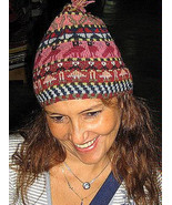 Woolen hat, made of Alpaca wool,cap, hand-embroidered - $42.00