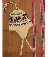 Ethnic peruvian Chullo,Hat with ear flaps, alpacawool - $25.00