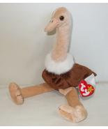 Ty Beanie Babies NWT Stretch  the Ostrich Retired - $9.95