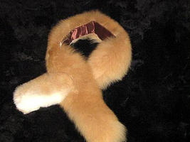 Brown alpaca pelt stola, fur shawl, soft fur neck scarf - $84.00