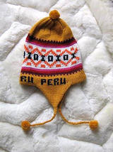 Ethnic peruvian Chullo, Woolly Hat with ear flaps  - $24.00
