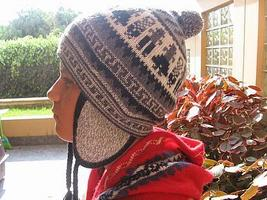Ethnical peruvian Chullo, Woolly Hat, Alpaca wool  - $23.00