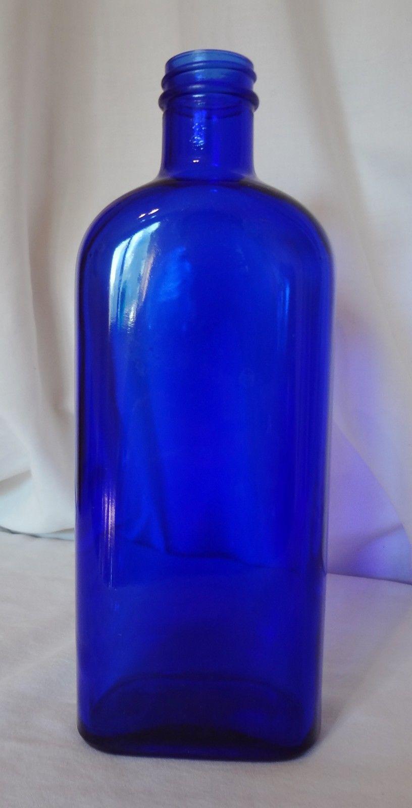 Cobalt Blue Glass Bottle Vintage Medicinal and 50 similar items