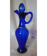 Avon Cobalt Blue Genie Glass Decanter Bottle Gl... - $9.99