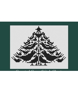 Black Bird Christmas Tree cross stitch chart Victorian Motto Sampler Shoppe - $153,47 MXN