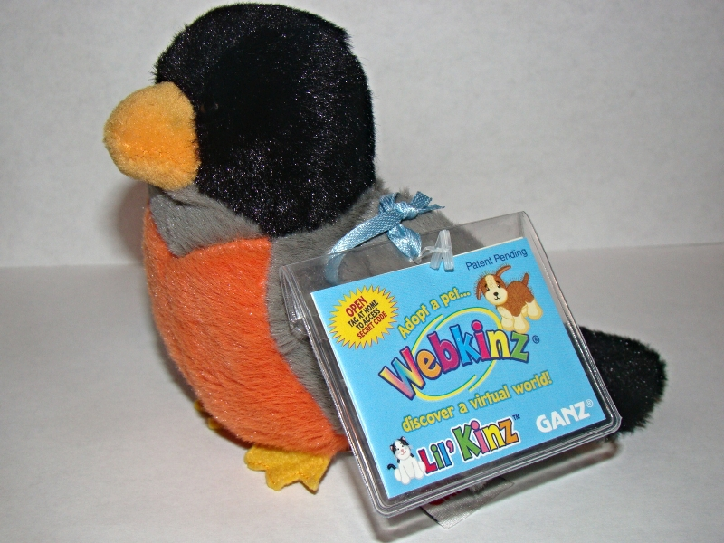 Primary image for GANZ WEBKINZ Lil' KINZ - ROBIN (Sealed Code)