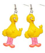 BIG BIRD EARRINGS-Sesame Street Charm Funky Novelty Jewelry-BODY - $5.97