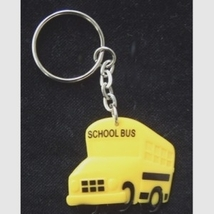 SCHOOL BUS KEYCHAIN - Driver Gift Crossing Guard Charm Jewelry - $3.97