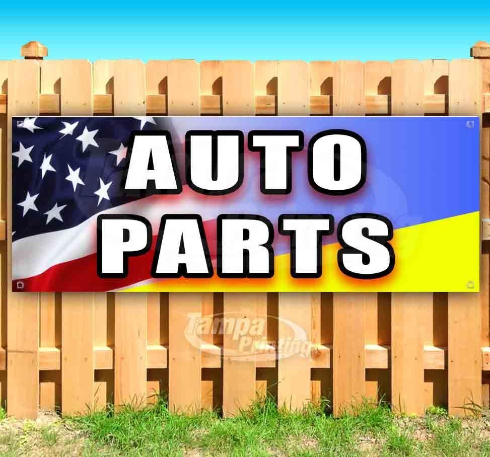 Primary image for AUTO PARTS Advertising Vinyl Banner Flag Sign Many Sizes MECHANIC REPAIR