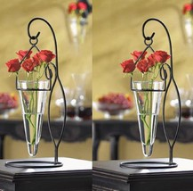 2 Black Candelabra Flower Votive Candle Holder Wedding Centerpieces - $28.71