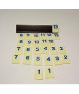 Rummikub Tile Lot 52 Orange Blue Numbered Tiles Parts Craft Pieces Jewelry - $7.99