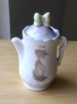 1995 Precious Moments Sage Teapot Spice Jar  - $13.00