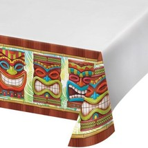 Tiki Time Plastic Tablecover 54 x 102 Summer Pool Party Luau - $7.59