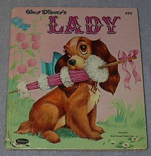 Children's Tell A Tale Book Walt Disney's Lady