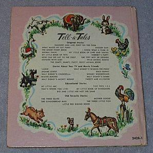 Children's Tell A Tale Book Walt Disney's Lady