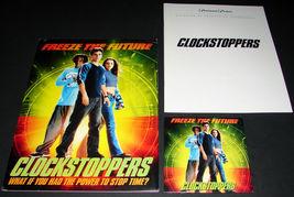 2002 CLOCK STOPPERS Movie PRESS KIT & CD Jesse Bradford Paula Garces - $13.54