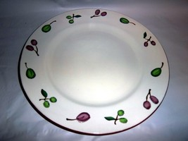 "Two  Big 12"" Pottery Barn Dinner Plates OLIVE - $27.72"