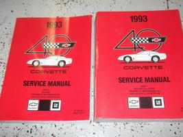 1993 chevrolet chevy corvette service repair workshop manual set new - $199.32