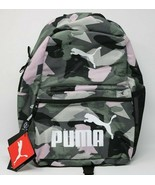 "Puma 18.5"" Generator Perforated Backpack Black/Green/Pink Logo Tech Styl... - $29.67"