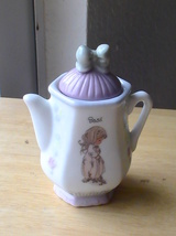 1995 Precious Moments Basil Teapot Spice Jar  - $13.00