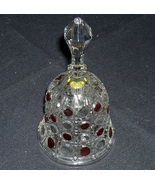 Bell Lead Crystal with Red Polka Dots - $22.00