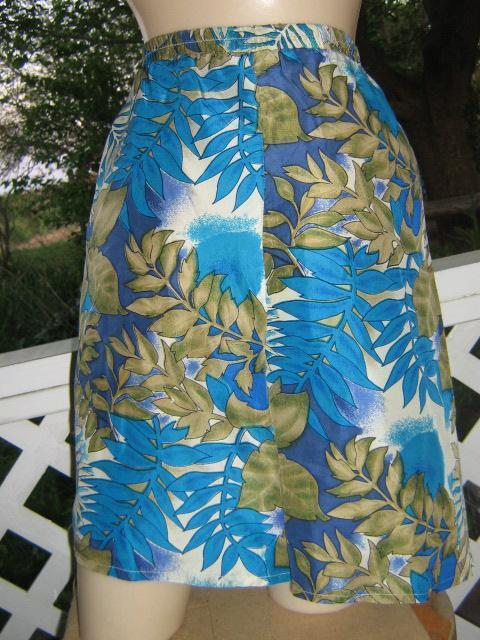 Luxe! Silk Vintage 70s hawaiian Skort Mini Skirt Shorts Saro
