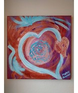 Original Painting with Etherium Gold & Sedona red rock- Multi-dimensiona... - $80.00