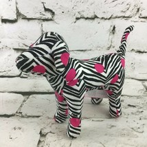 Victoria's Secret Puppy Dog Plush Zebra Striped Advertising Collectible Stuffed  - $9.89