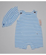 Just One You Jumper and Matching Hat by Carter's Blue & White Stripe 3 MO - $6.00