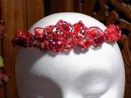Crimson Goddess Circlet, OOAK, SCA, Pagan, Wiccan - $35.00