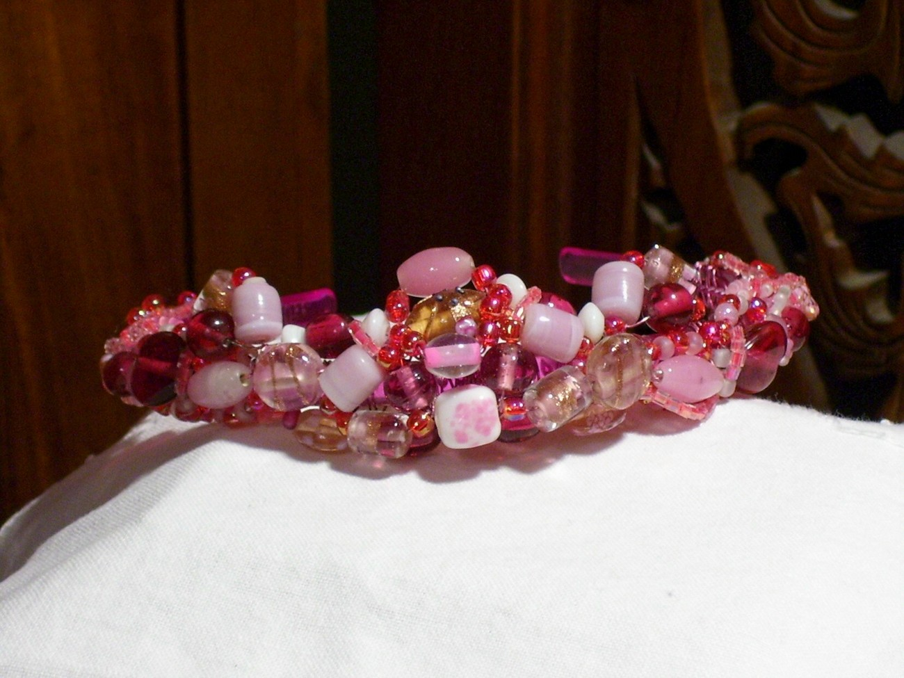 In the Pink Headband, OOAK, SCA, Pagan, Wiccan