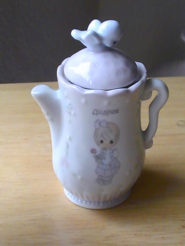 1995 Precious Moments Allspice Teapot Spice Jar  - $13.00