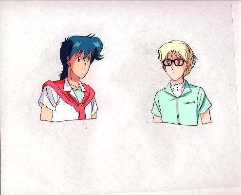 "DISCOUNTED: Ashita e Free Kick ""Syun/Rob."" Anime Cel (0246)"