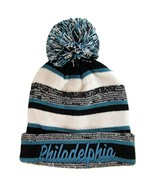 Philadelphia Embroidered Thick Winter Knit Pom Beanie Hat (Green Text) - $13.75