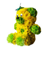 Flowers Teddy Bear Bouquet Fresh Floral Plush Toys Unique Present Gift - $120.00