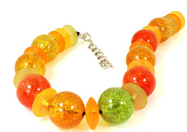 Multicolour Unique  Resin Choker Necklace One of a Kind Statement Jewelry ( 1799 - $95.00