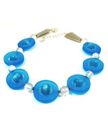 Blue Resin  Unique Choker Necklace One of a Kind Jewelry  1458 - $99.00