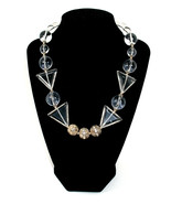 Crystal Quartz and Lucite  Classic Choker Necklace One of a Kind Jewelry... - $129.00