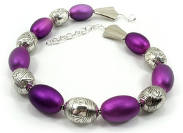 Purple Resin  and Acrylic  Choker Necklace Trendy One of a KInd Jewelry( 1513) - $85.00