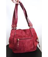 Free Ship Tignanello Dark Purple Leather Purse Shoulder Bag - $35.00