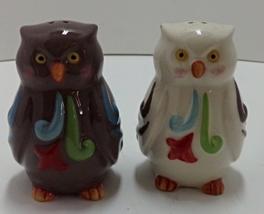 Enesco Brown & White Owl Salt & Pepper Shaker Set - $12.00