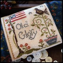Old Glory cross stitch chart Little House Needleworks - $5.40
