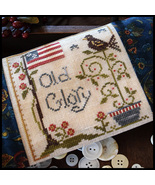 Old Glory cross stitch chart Little House Needleworks - $5.40