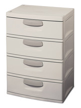 4 Drawer Organizer Cabinet Unit Garage-Bed-Utility-Storage-Dorm,Heavy Du... - $2.799,92 MXN
